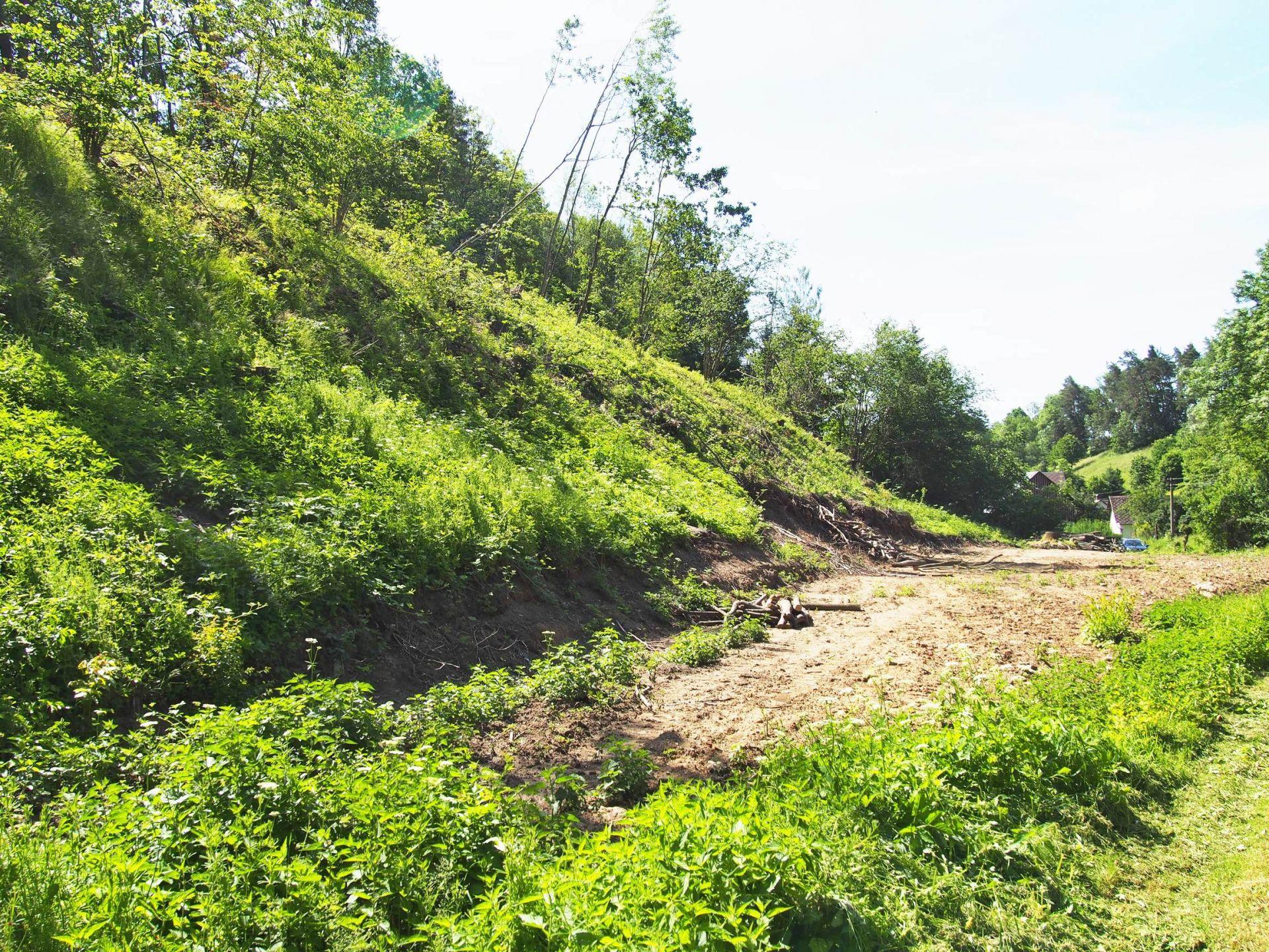 Prodej pozemku určeného k výstavbě RD v klidné části obce Jenišovice